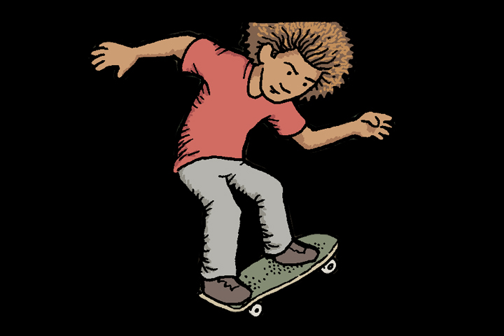 kid skates and is pro in his imagination