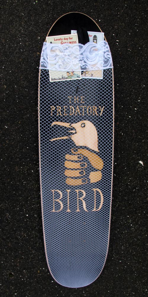 The Predatory Bird Winter deck in full sex trade regalia