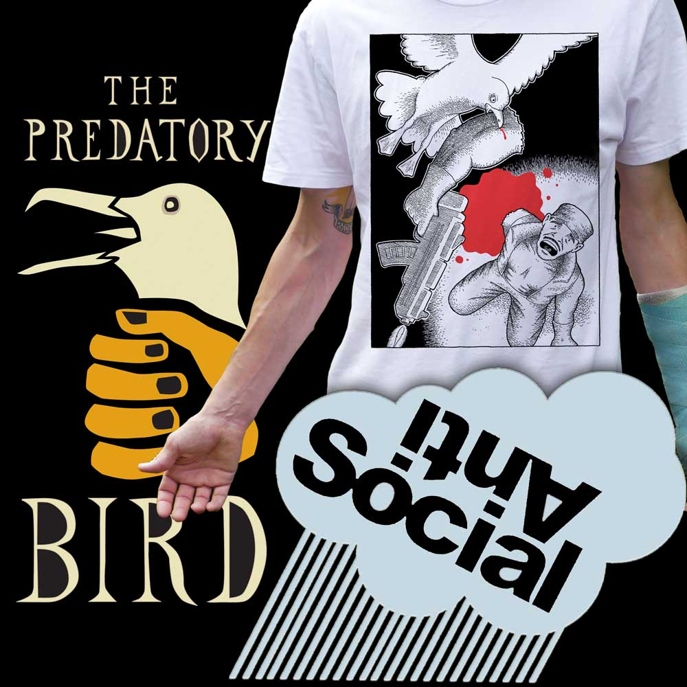 Anti Social Skate Predatory Bird Shop Flyerl