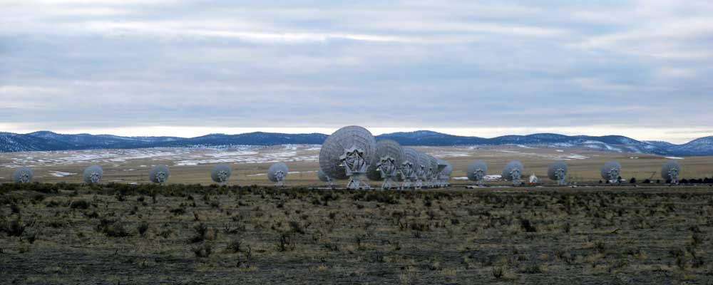 Panoramic view of the Very Large Array in New Mexico