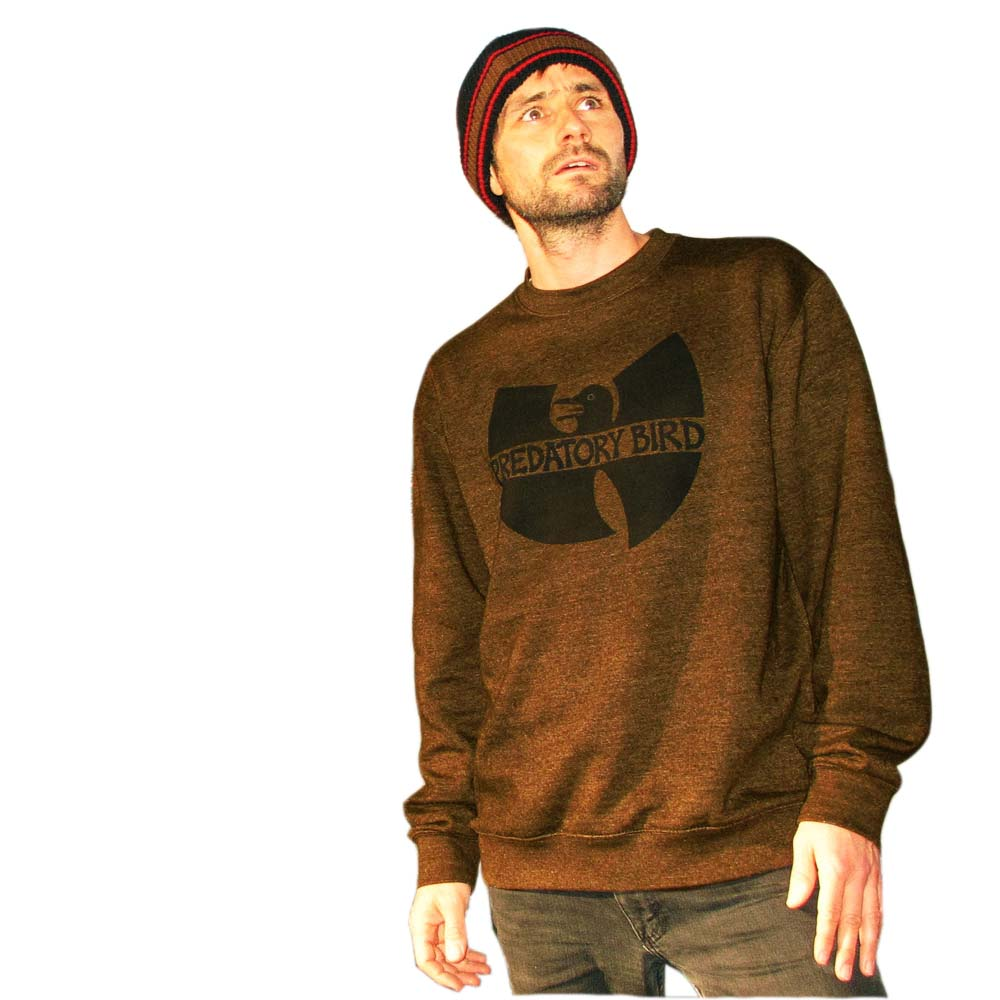 The WuCrew sweater Bleached to a variable chocolate brown