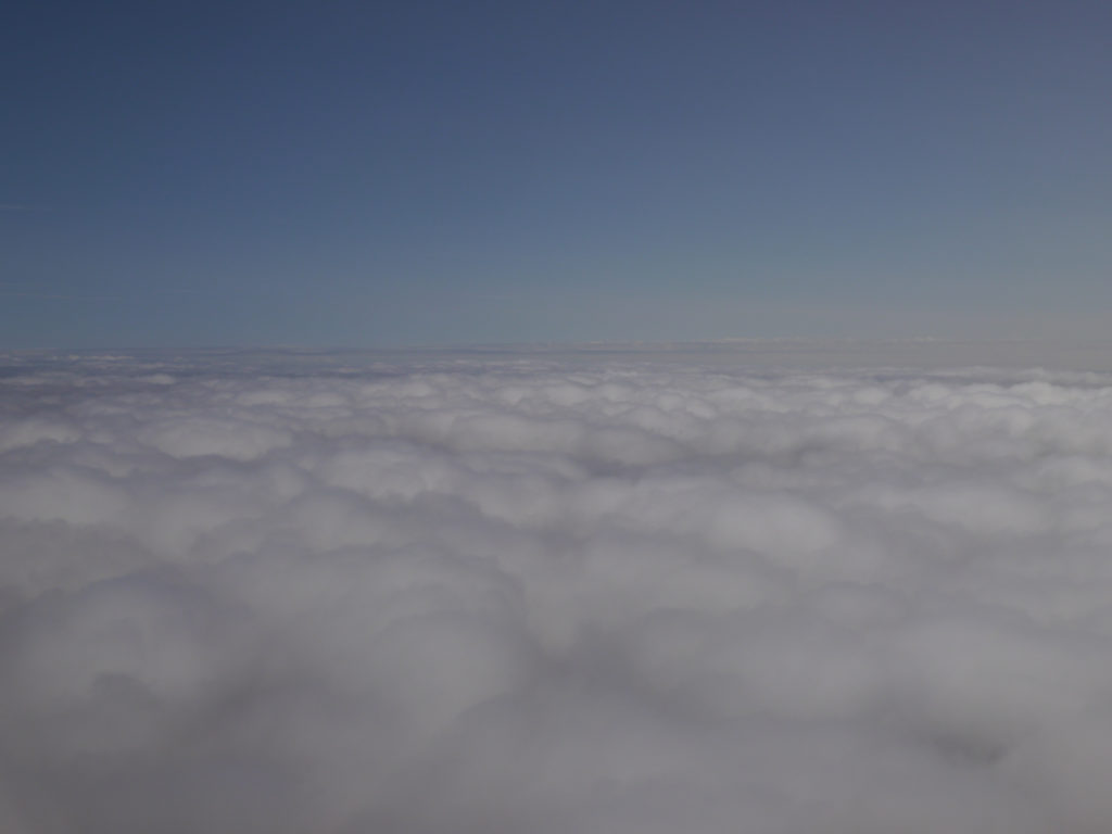 Cloudscape from plane window