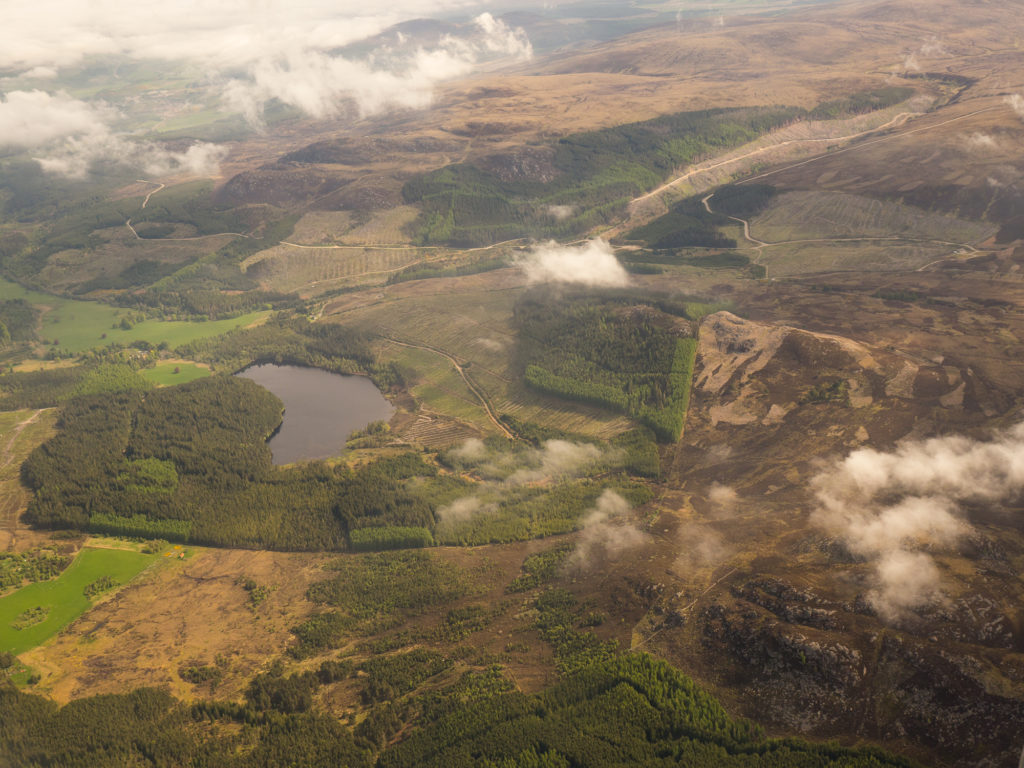 A view of the central highlands as we make our approach towards Inverness airport